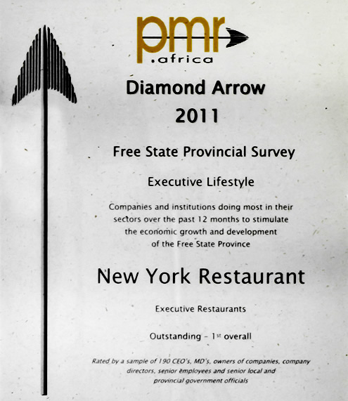 New York Restaurant PMR Diamond Arrow Awards 2011